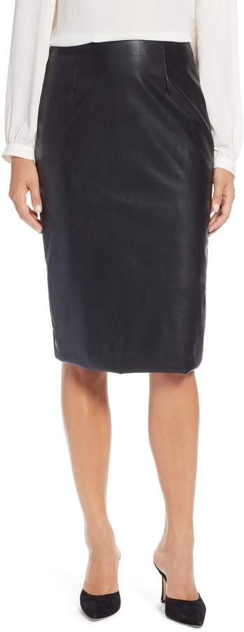0596f93694 Halogen Faux Leather Pencil Skirt | Products | Faux leather pencil ...