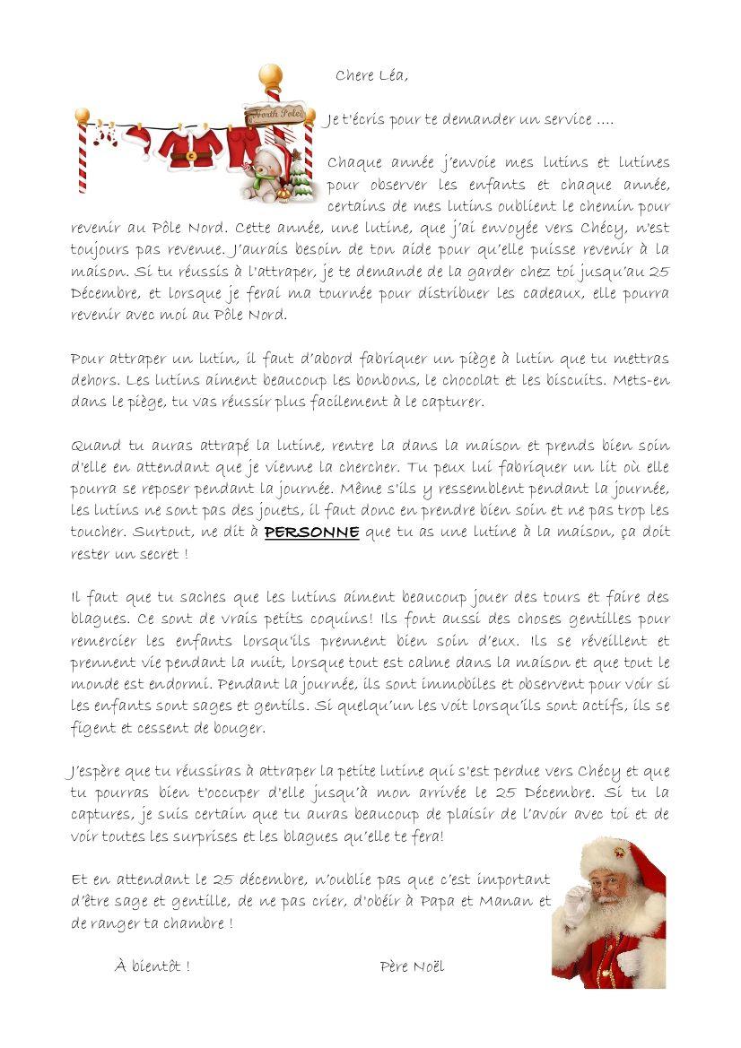 Poeme Lettre Au Pere Noel.Une Lettre Du Pere Noel Quentin Et Lea Lutin Noel