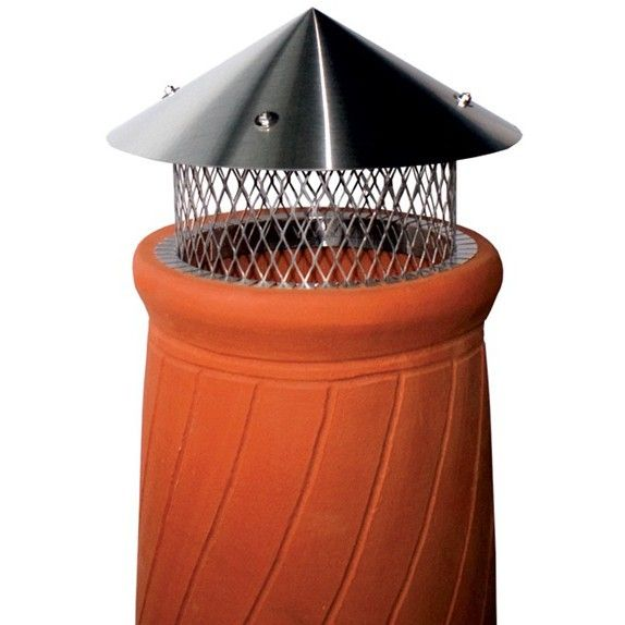 Chimney Pot Rain Cap Round I D Stainless Steel Cone Lid