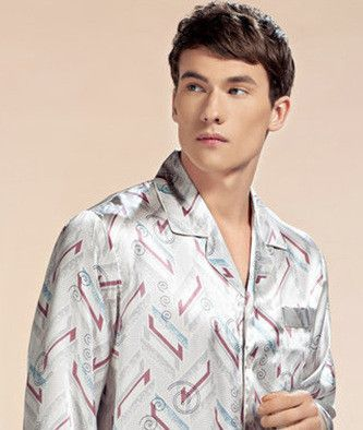 b7c0b9b552 Wholesales Pure Silk Satin Sleepwear Sale Long-Sleeve Men Pyjamas Pajama  Sets Pants 100% Natural Silk Pajamas Set YE2520