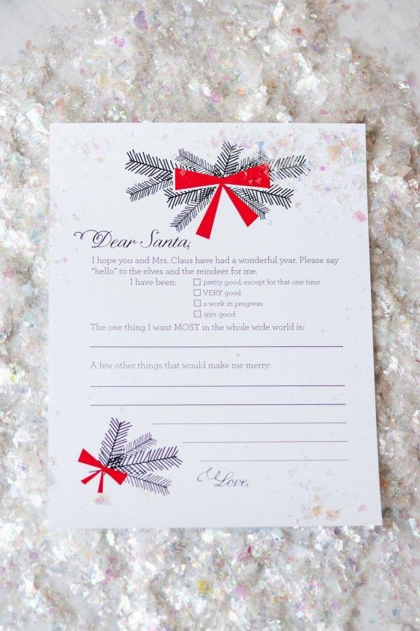 Dear Santa Christmas Wish List Printables Santa christmas, Dear - printable santa wish list