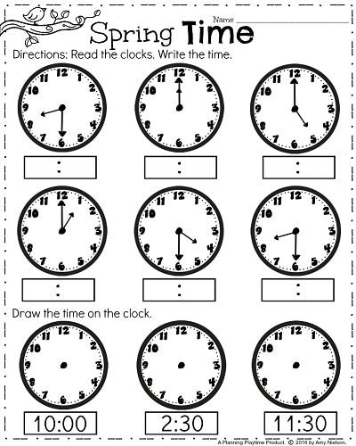 first grade worksheets for spring  best of first grade  pinterest  first grade clock worksheets  spring math worksheets for april firstgrade  springworksheets mathworksheets