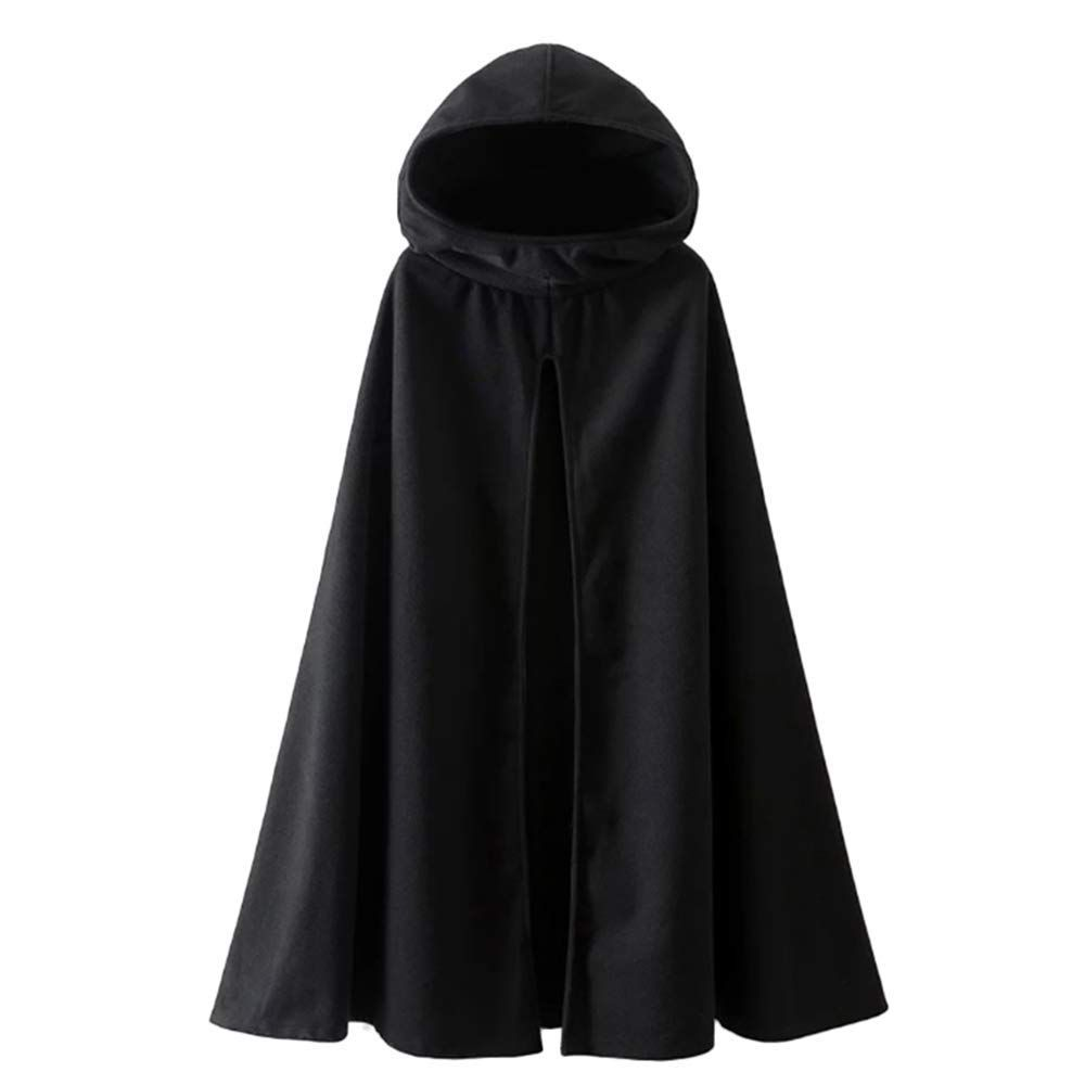 Fantasy Closet Womens Hooded Cape Mid-Length Split Front Cloak
