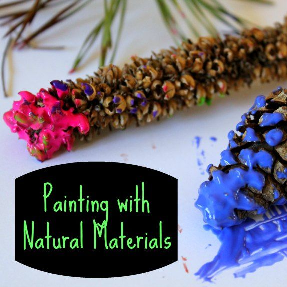 Painting with natural materials a great nature craft for for Painting with nature items