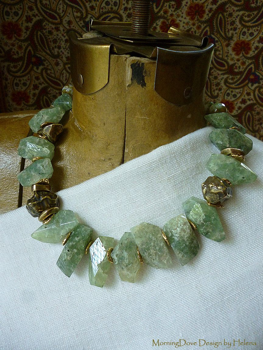 Natural Chunky Turquoise Chunk Nuggets Long Necklace 26 inches