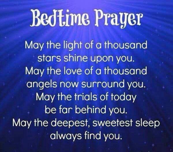 ✞❣ Bedtime prayer. †Amen | Bedtime prayer, Good night prayer, Prayers for  children