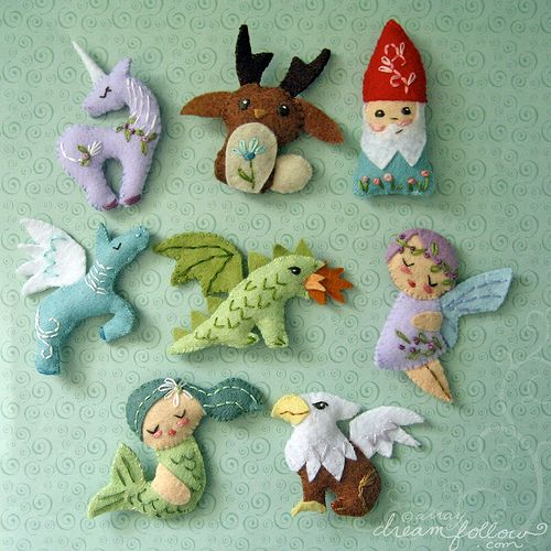 mini felt mythical creatures | Flickr - Photo Sharing!