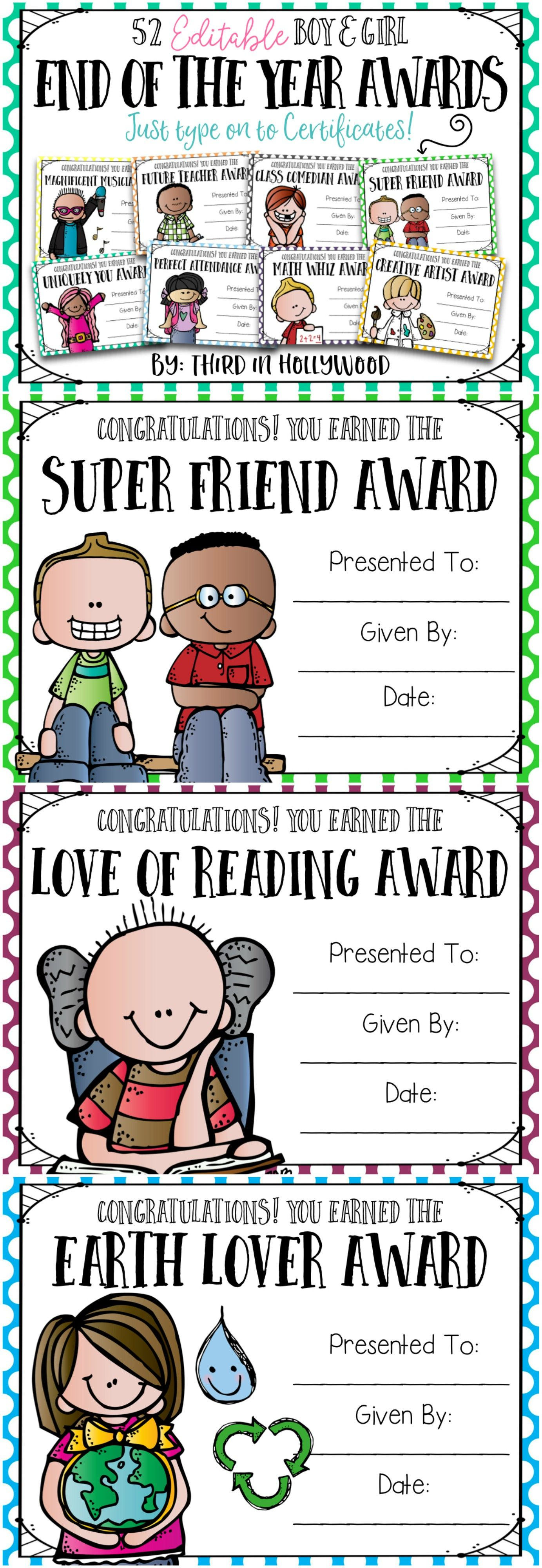 End Of The Year Awards Editable