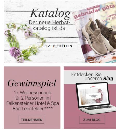 Schuhe, Stiefel und Mode online bei Gebrüder Götz kaufen