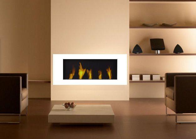 Wandkamin Weiss Gelkamin Ethanolkamin Gel Kamin Fireplace Kamin
