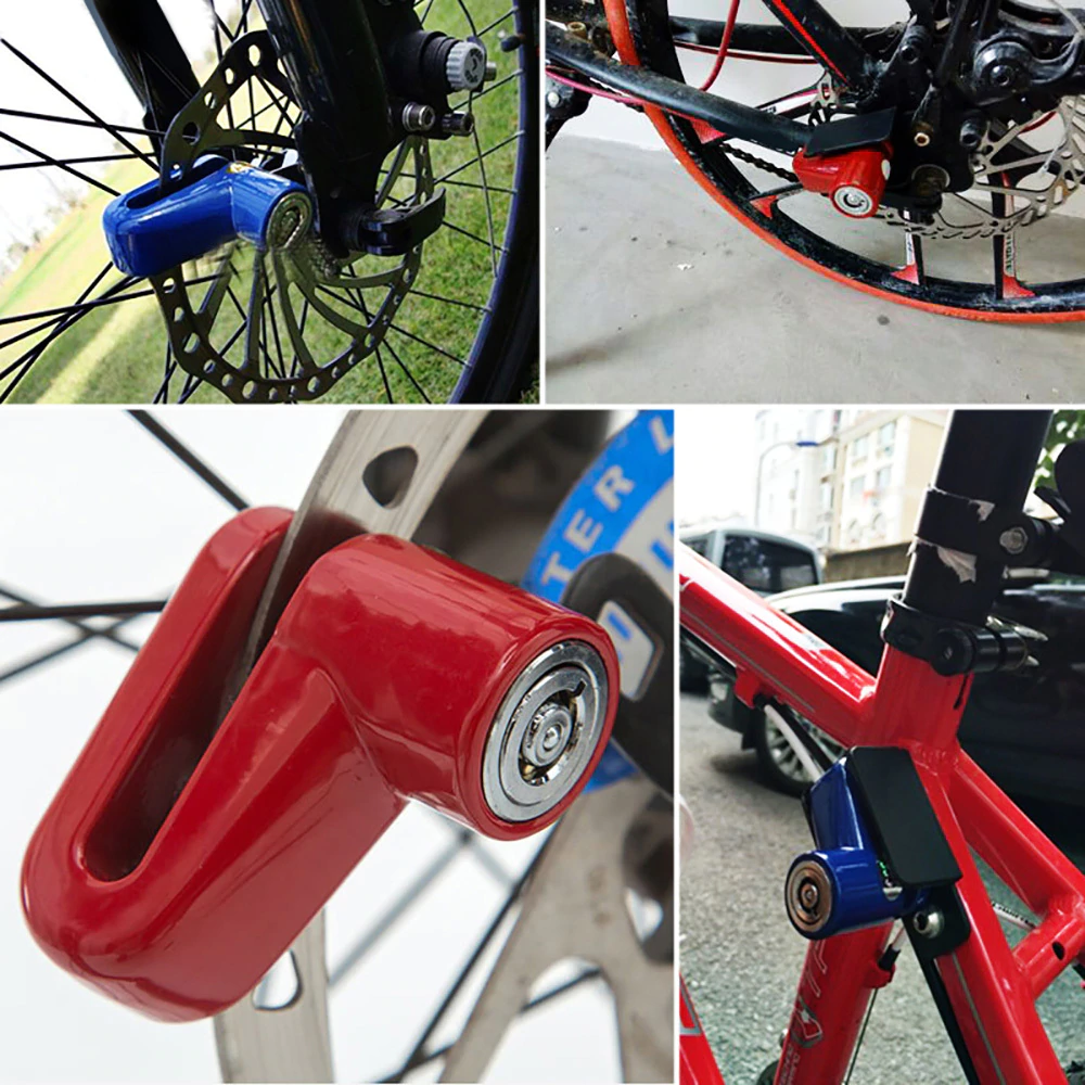 Security Disc Stainless Steel Heavy Duty Alarm Lock For Bike Bicycle Motorcycle