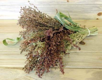 Dried Broom Corn Bouquetdecorate Country Style By