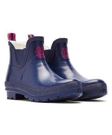 Loving this French Navy Wellibob Rain Boot - Women on #zulily! #zulilyfinds