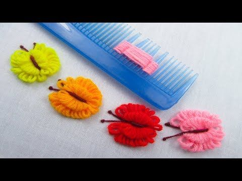 Hand Embroidery Amazing Trick, Easy Butterfly Embroidery Trick, Easy Sewing Hack - YouTube #embroiderypatternsbeginner