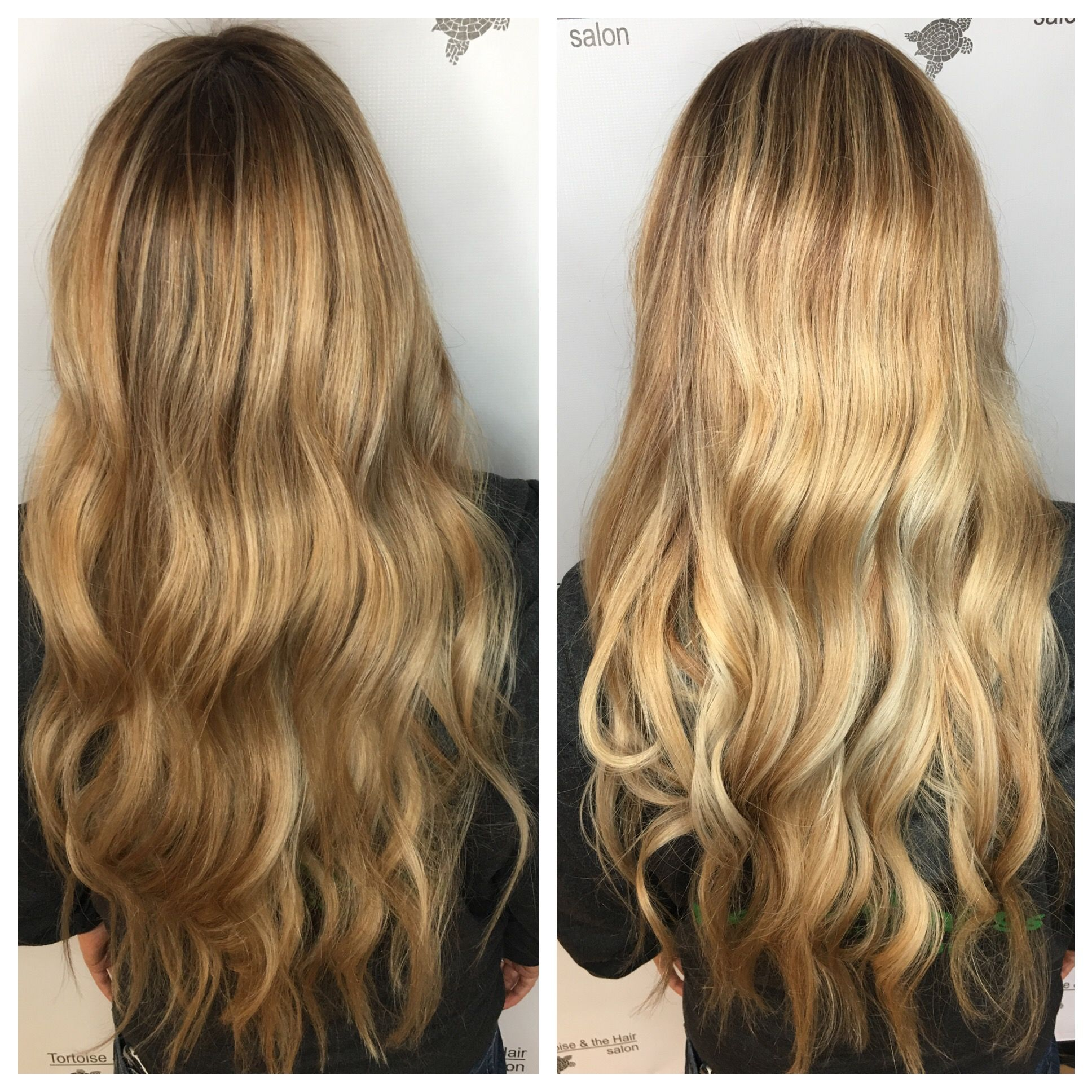 Blonde Hilights Shown With Two Different Light Sources Hair Color Hair Styles Long Hair Styles