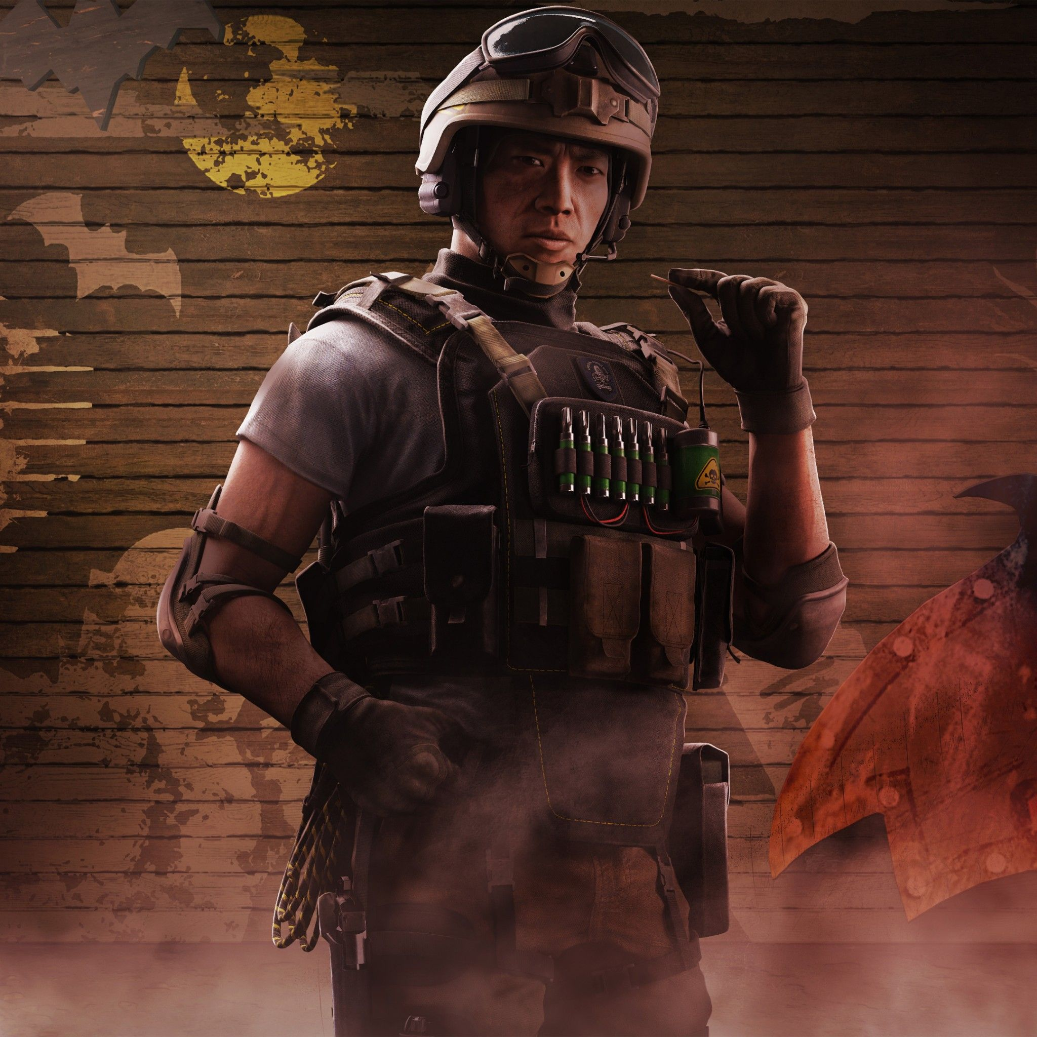Wallpaper Lesion Operator Tom Clancy S Rainbow Six Siege With