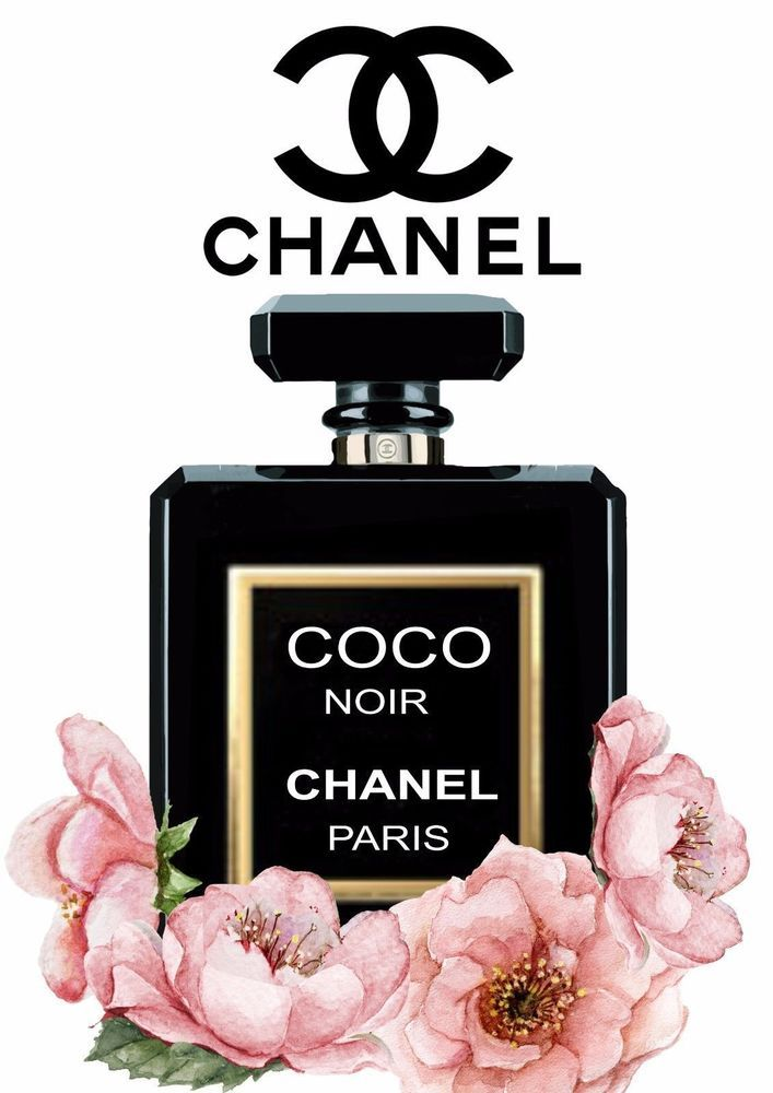 chanel noir floral gloss print perfume poster unframed a4 fashion design pinterest a4. Black Bedroom Furniture Sets. Home Design Ideas