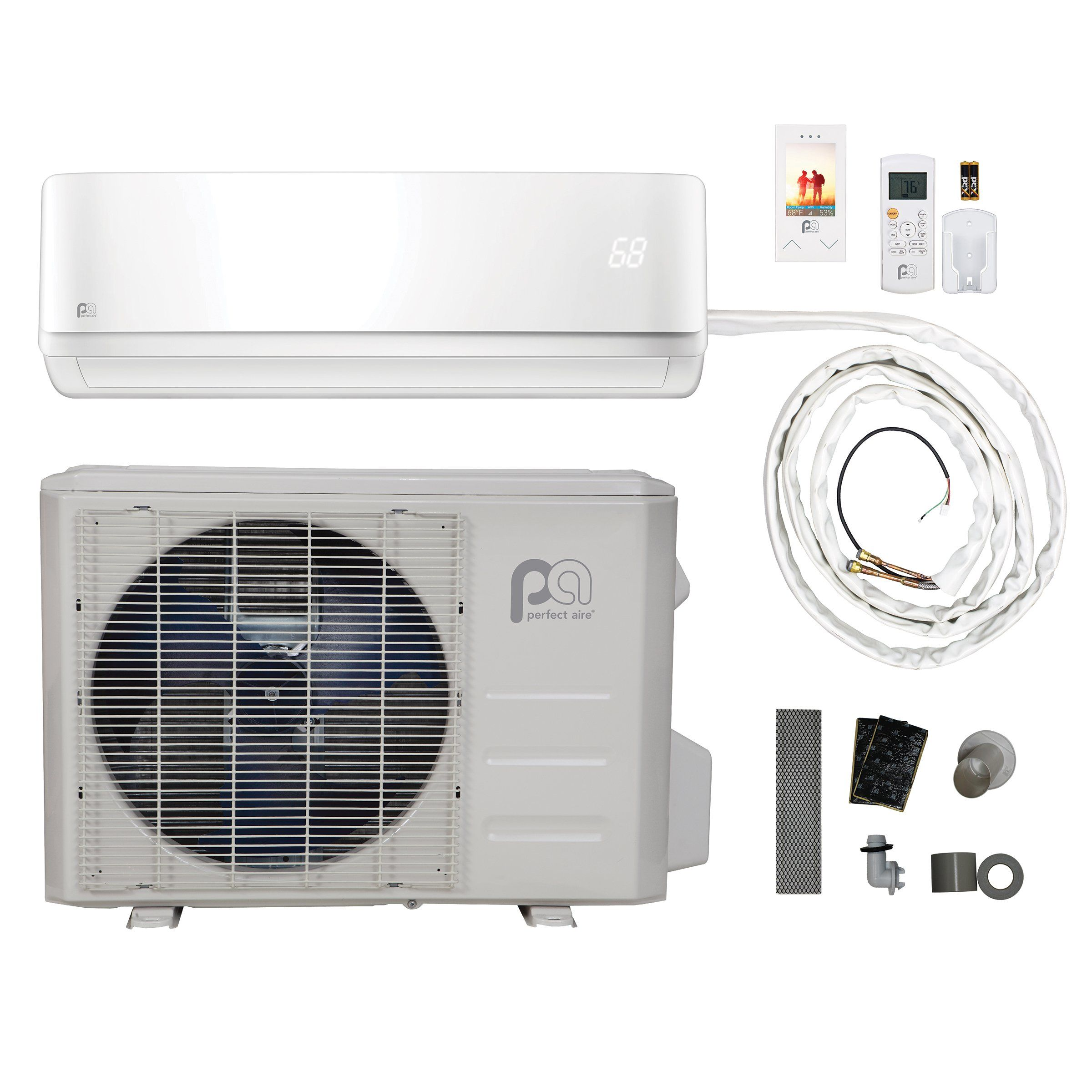 Perfect Aire Diy 18000 Btu 16 Seer Quick Connect Ductless Minisplit Heat Pump W Wifi Want Additional Info Click On The I Air Conditioner Ductless Heat Pump