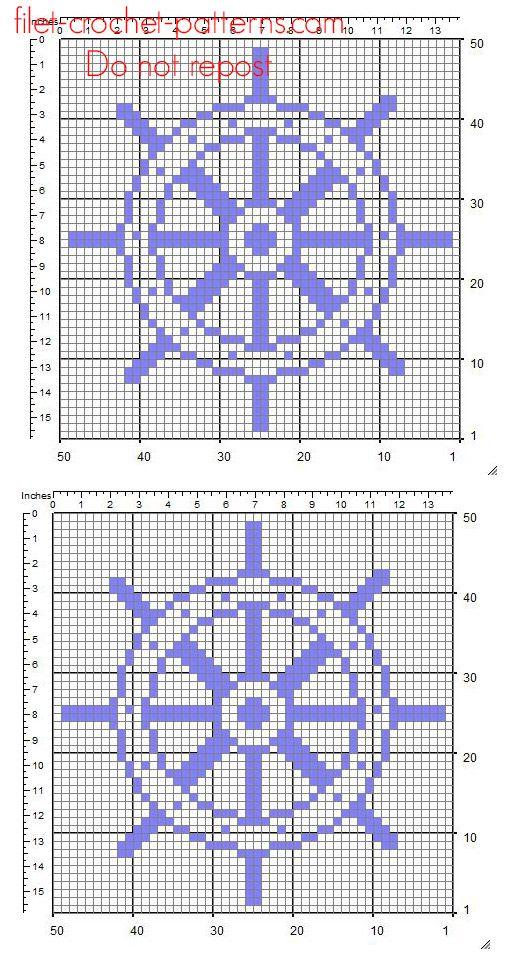 A rudder free simple crochet filet pattern insert | Cross Stitch ...