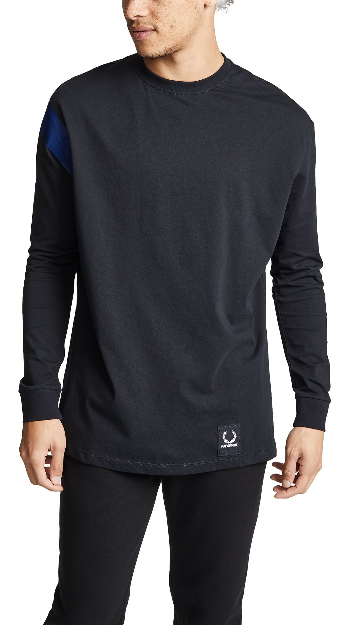 66ef7819 FRED PERRY LONG SLEEVE TAPE DETAIL T-SHIRT. #fredperry #cloth | Fred ...