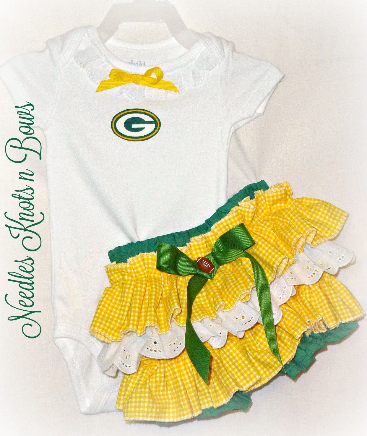 Girls Greenbay Packers Cheerleader Outfit Baby Girls Packers Football Game Day Outfit Coming Home Outfit Girls Coming Home Outfit Coming Home Outfit Home Outfit