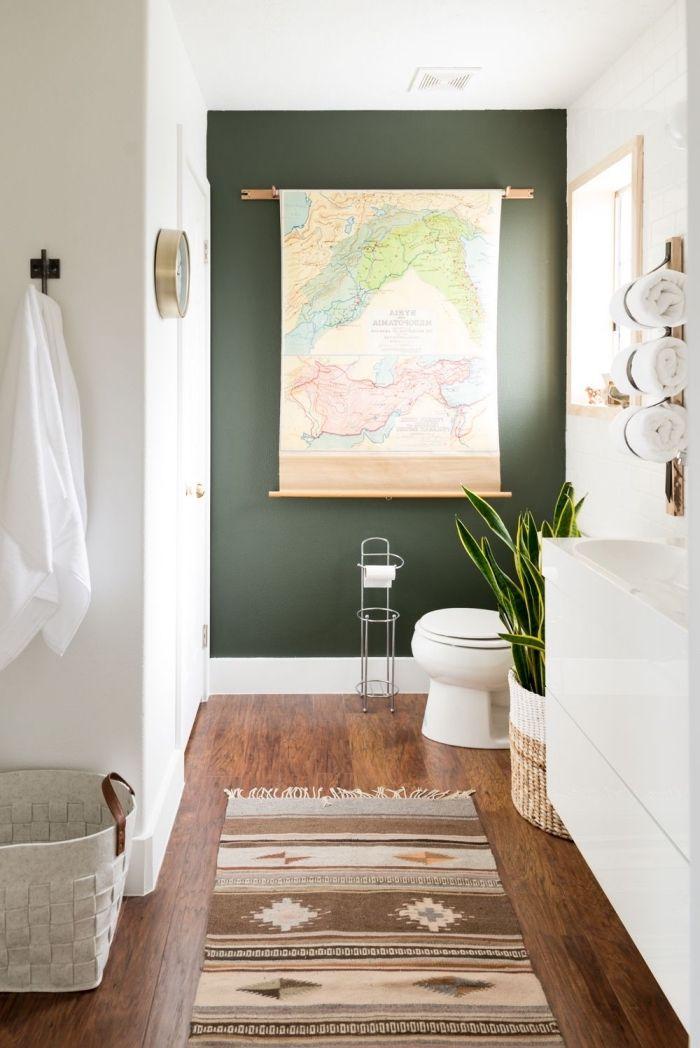 1001 exemples de rev tement mural pour salle de bain - Peinture salle de bain etanche ...