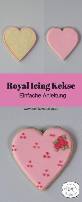 Einfache Anleitung für Royal Icing zum Kekse dekorieren. Das Rezept für die Herstellung von Royal Icing und Zuckerguss findet ihr im Link mit Schritt für Schritt Anleitung. #royalicing #kekse #icedcookies #hochzeitskekse #zuckerguss #royalicingrezept #plätzchen #weihnachtsbäckerei #royalicingkekse #cookie #heartcookie #herzkeks #pink #rosa #royalicingreceipe #rezeptkekse #keksrezept #zuckergussrosa #tortendekorieren