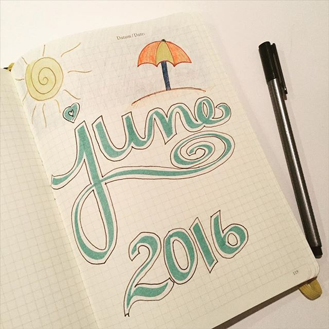 Day 1 of #planwithmechallenge - Hello, June! I'm surprised to see you so soon.
