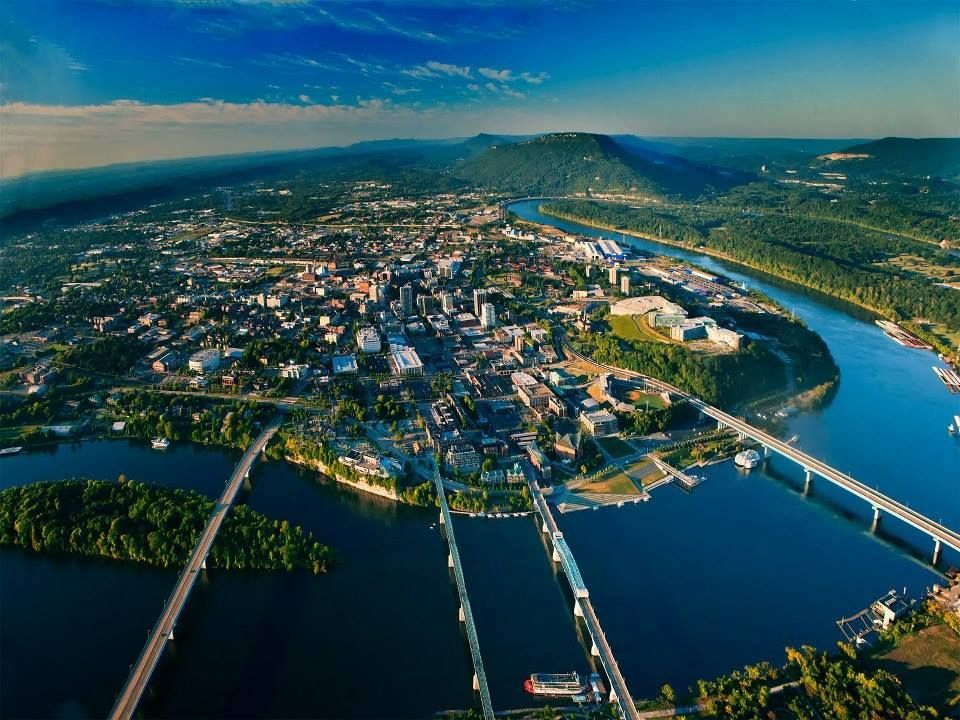 Chattanooga TN Aerial View Of That Beautiful City