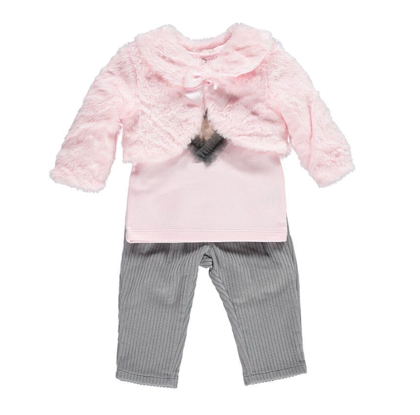 0cad2cfa5 💖 MINTINI BABY GIRLS TOP, TROUSERS AND BOLERO SET 0 - 3, 3 - 6, 6 ...