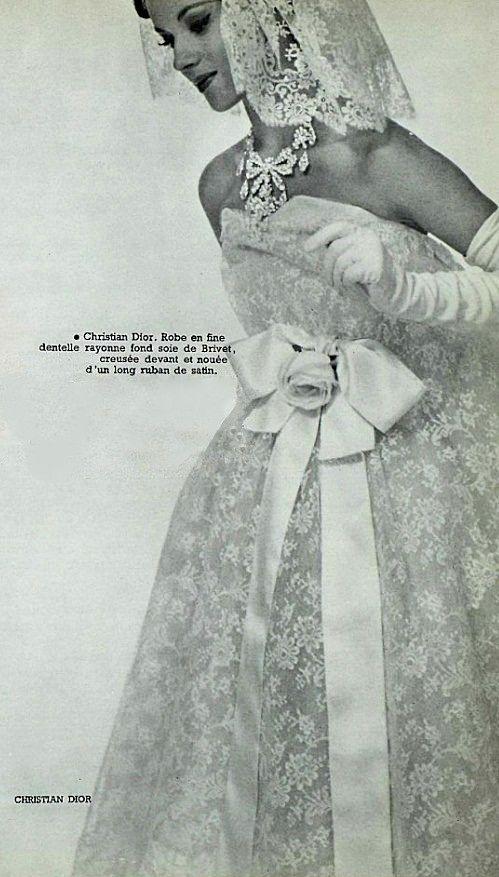 1958 Yves Saint Laurent for Dior - wedding dress | Fabulous 50s ...