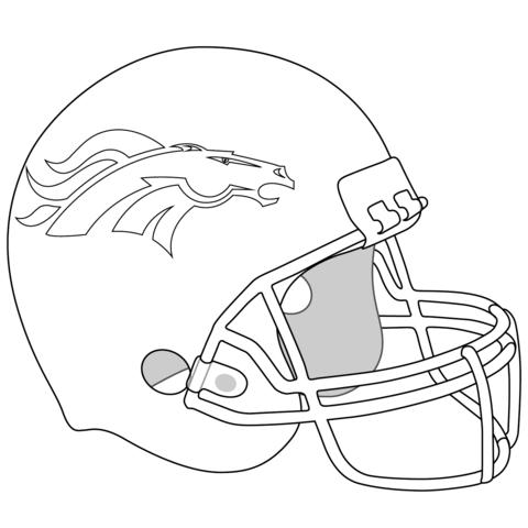 Denver Broncos Helmet Coloring Page Broncos Denver Broncos