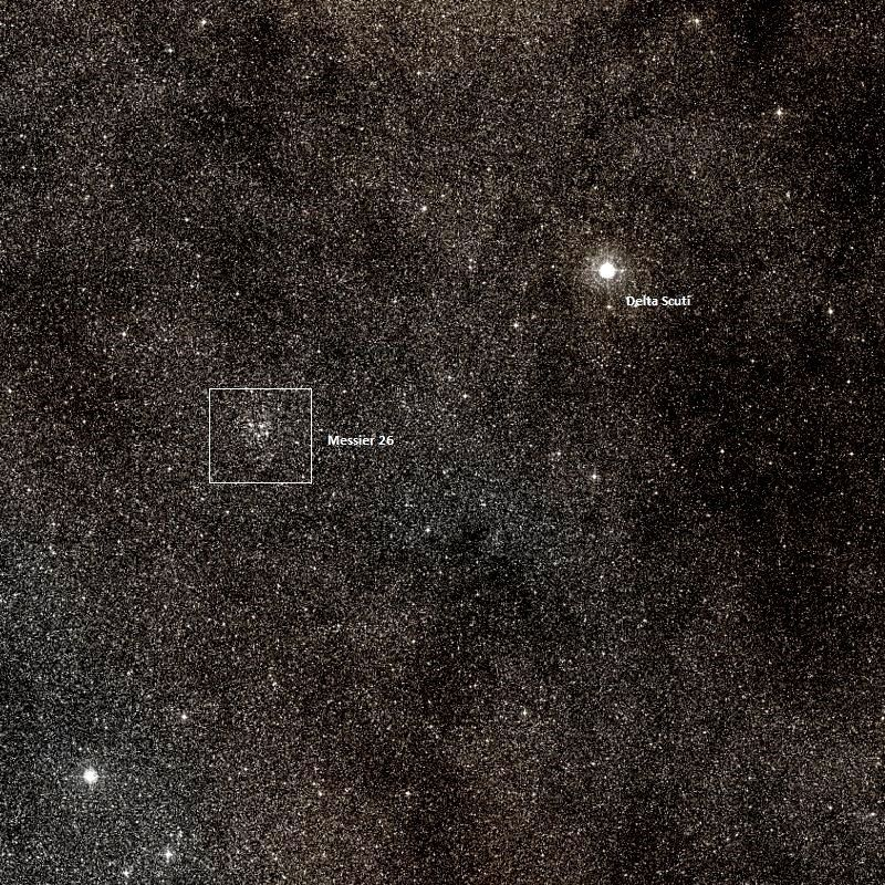 Messier 26 – The NGC 6694 Open Star Cluster | Star cluster