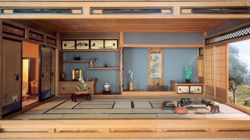 E 31 Japanese Traditional Interior The Art Institute Of Chicago Japanese Style House Japan Interior Traditional Japanese House
