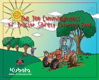Farm Safety is always #1  Check out this great Coloring