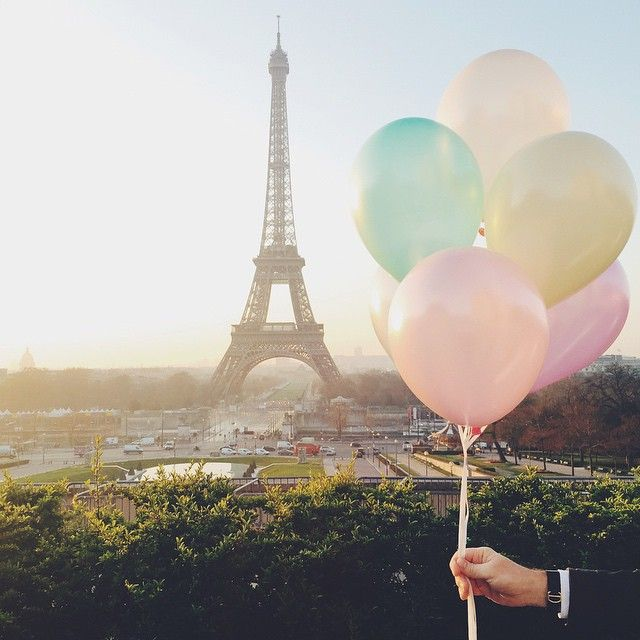 """""""Sunrise photo shoot at the Trocadéro this morning starring my super cute parents and this bunch of pastel coloured helium balloons. Love! (Thanks Dad for holding the props!) #katiemitchellphotography #parisphotographer"""" Photo taken by @katiemitchellphotography on Instagram, pinned via the InstaPin iOS App! http://www.instapinapp.com (04/09/2015)"""