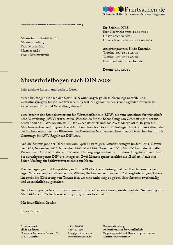 Briefpapier Nach Din Norm 5008 Erstellen Printsachen De Brief Briefpapier Vorlage Briefpapier