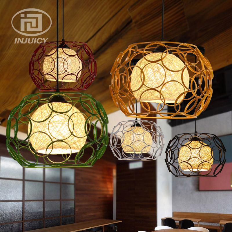 loft industrial iron cage. Loft Edison Vintage Industrial Iron Cage LED Pendant Lamp Woven Hemp Rope Corridor Dining Room Bedroom A