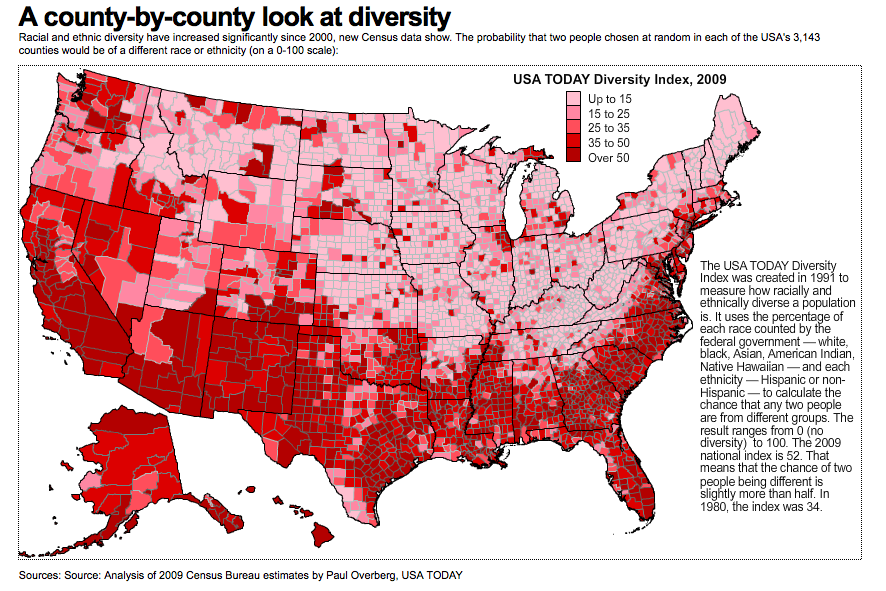 Maines Lack Of Diversity Illustrated In Three Maps Portland - Map of diversity in us