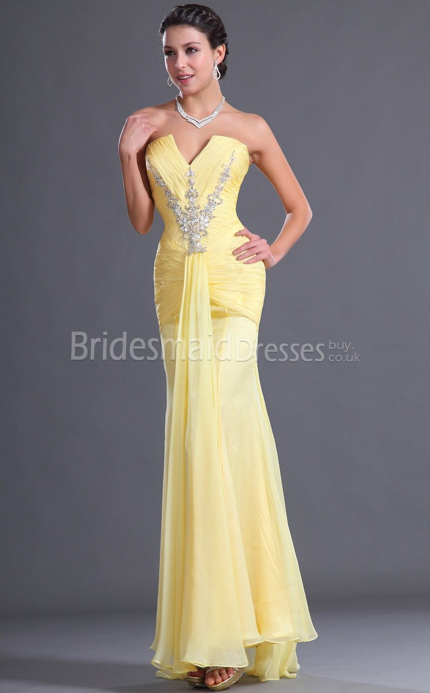f0f201f0d0fb Sexy Yellow Mermaid Bridesmaid Dresses | Bridesmaid dress ...