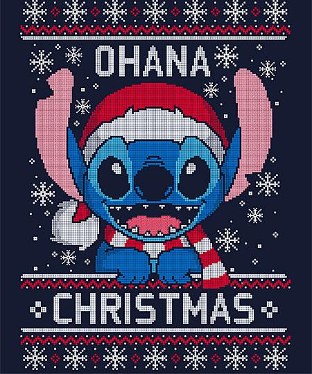 Ohana Christmas From Qwertee Cute Disney Wallpaper Disney Phone