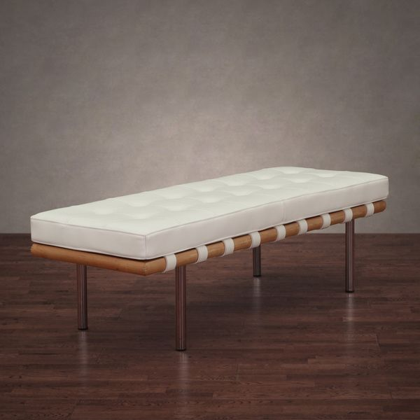 Exceptional Leather Benches Modern Part - 5: Andalucia Modern White Leather Bench (50 In.) By I Love Living