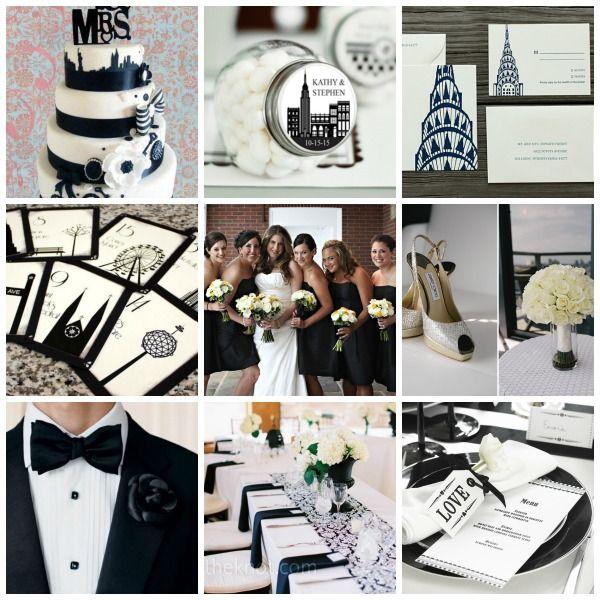 New York Wedding Theme Styling Moodboard Ideas