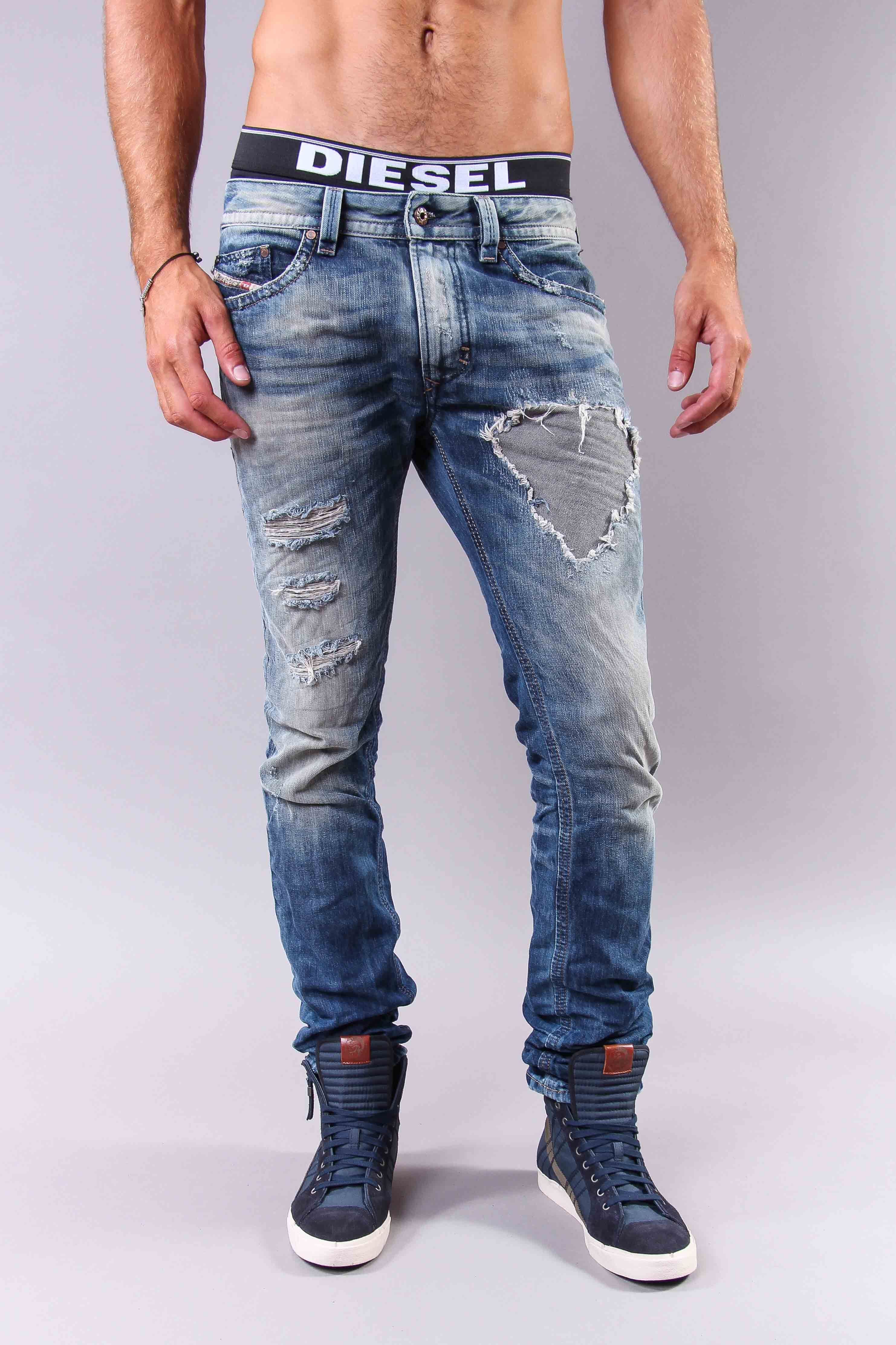 Man Jeans, Men Pants, Denim Jeans, Blue Jeans, Diesel Style, Diesel Jeans,  Men Casual, Casual Outfits, Bodo