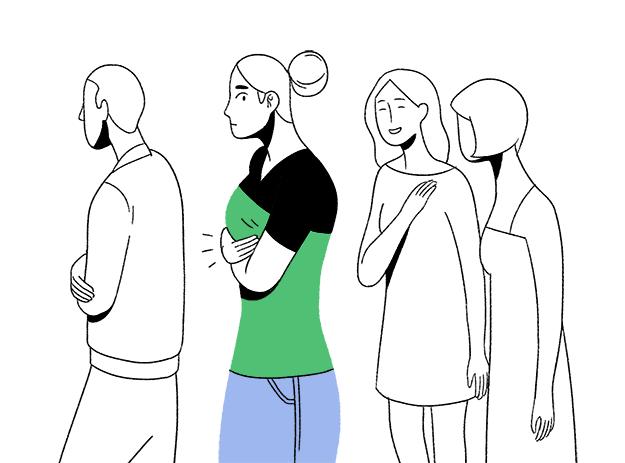 Wenn Deine Brüste nicht aufhören zu jucken, ganz egal wie oft Du ihnen sagst, dass Du in der Öffentlichkeit bist.