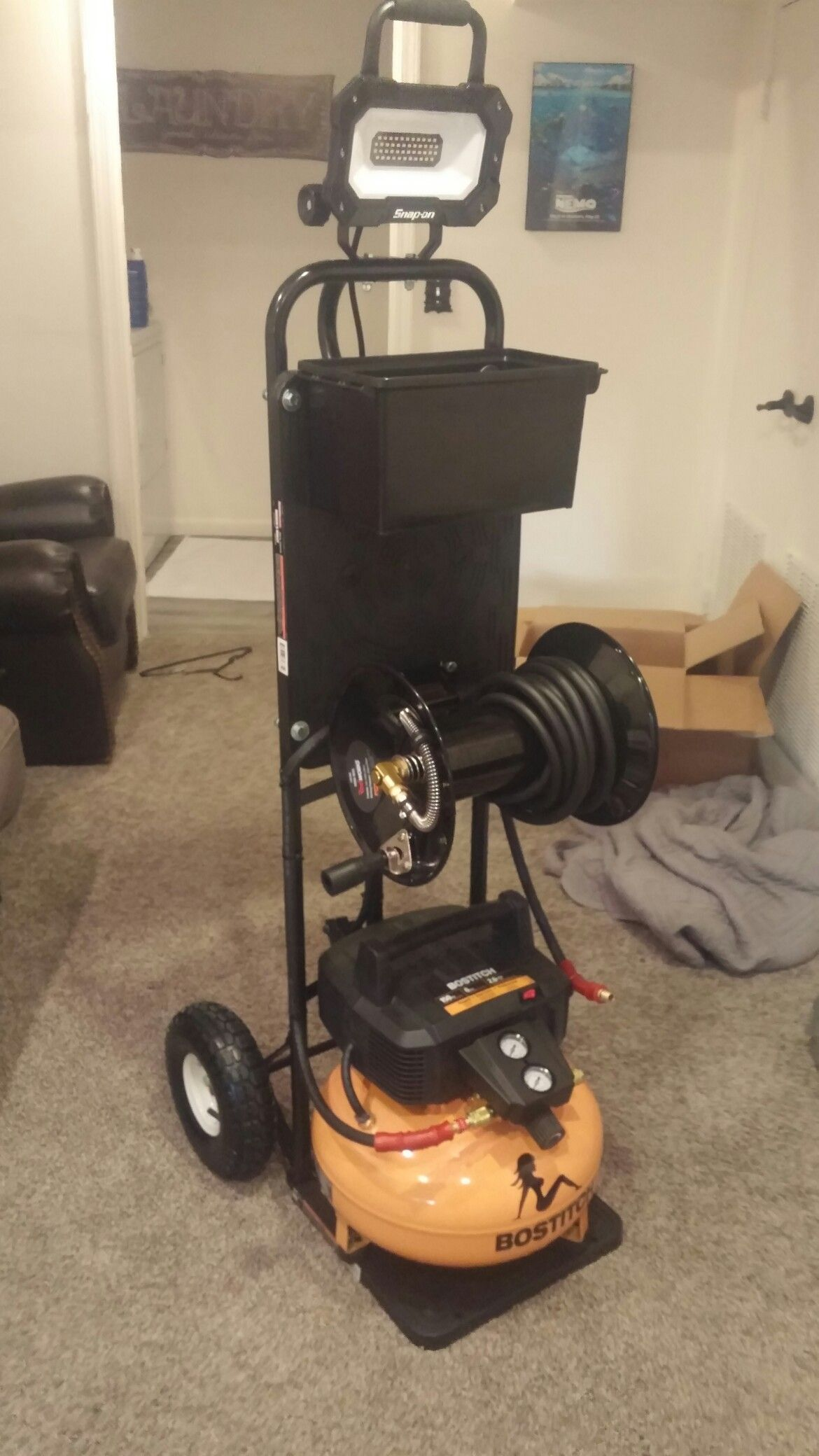 Pin by Chris Akins on air compressor cart Tool storage