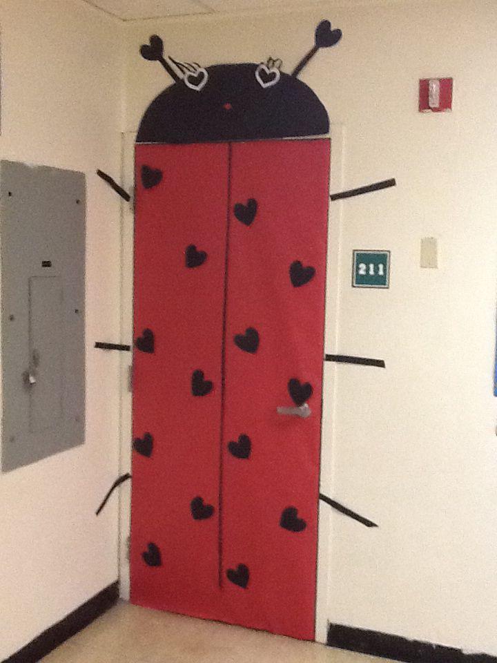 Valentine Decorations For My Door At School | Ladybug Valentines Door. |  Classroom Doors |