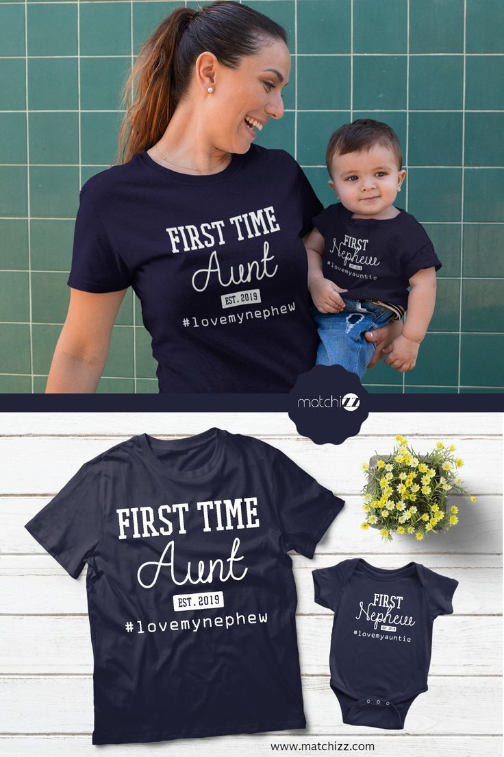 Matching Aunt Niece Nephew Shirts or Baby Bodysuit Happiness is Being an Aunt Co
