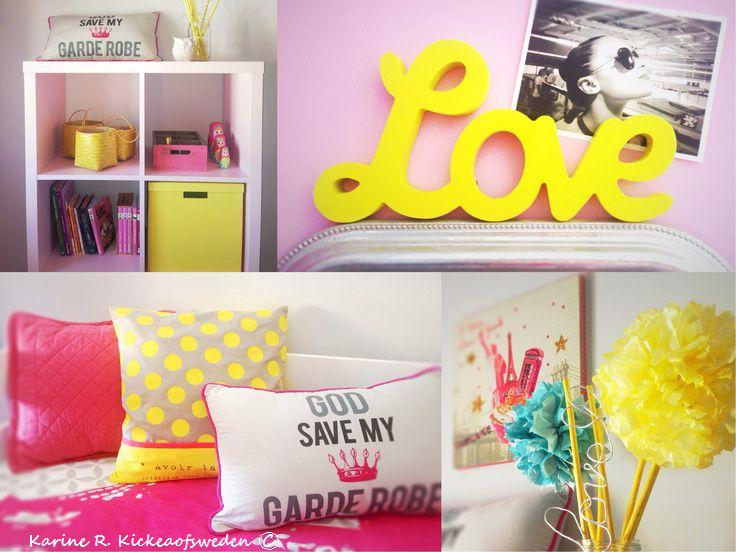 Chambre ado fille ROSE & JAUNE | KIDS ROOMS by Kick | Pinterest ...
