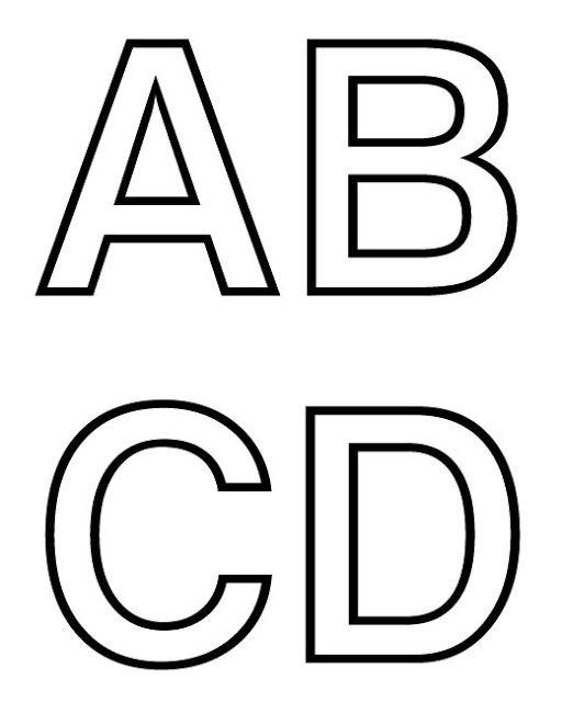 Abecedario Letras Para Imprimir 01 Moldes De Letras Letras Para